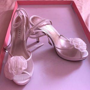White Metaphor Heels